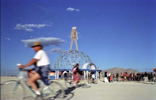 The Burning Man in all his splendour the week preceding \'the burn\'