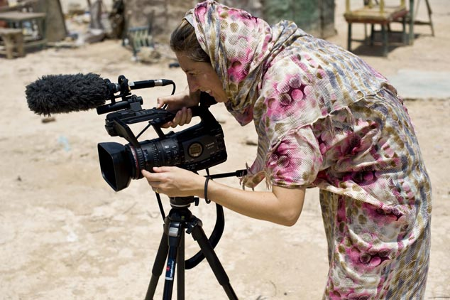 Rachel Palmer working in Somalia
